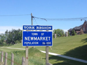 Newmarket Traffic Sign