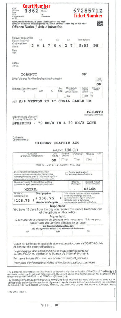 File Traffic Ticket Online